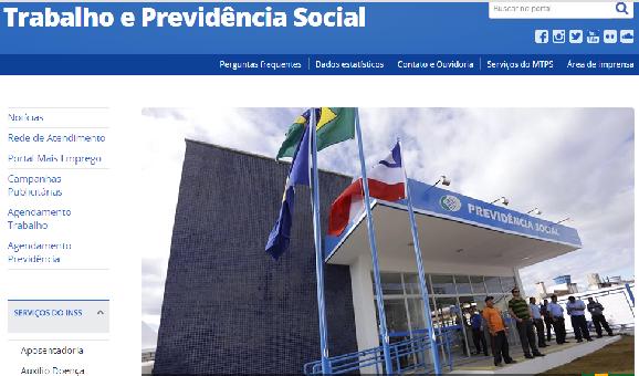 www.mtps.gov.br Site da Previdência Social