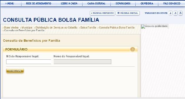 Consulta Bolsa Família  Pelo Nome, NIS, CPF Online 06