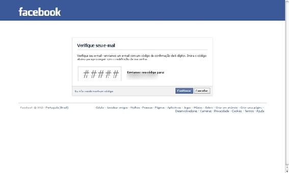 Como recuperar uma conta do Facebook código