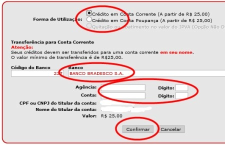 Nota Fiscal Paulista Cadastro, Consulta de Créditos, Sorteios 00003