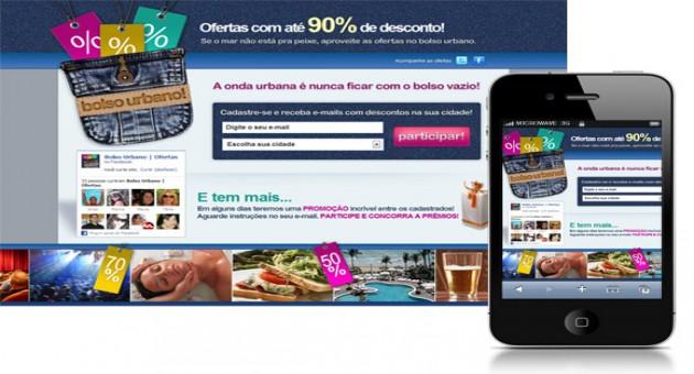 Site de compras coletivas Bolso Urbano