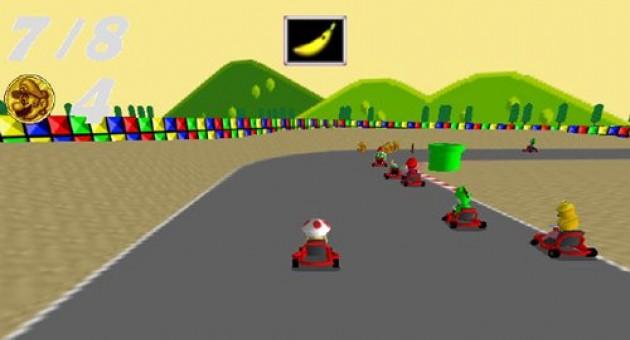 Divirta- se com este remake de Super Mario Kart