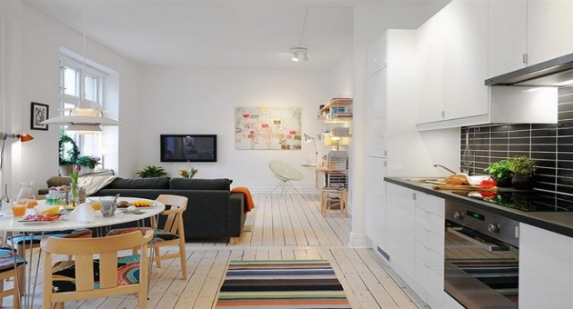 Cozinha e sala conjugada - ideias de decoração Reciclar e