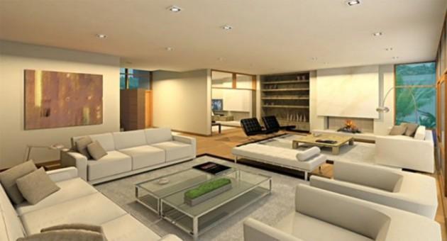 Sala comprida como decorar for Como decorar sala grande