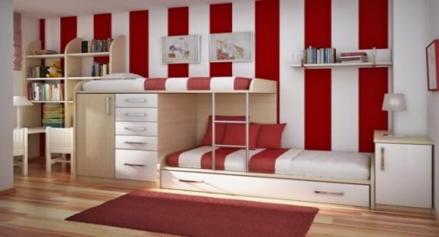 Fotos de quarto pequeno de apartamento planejado - Habitaciones infantiles pintadas a rayas ...