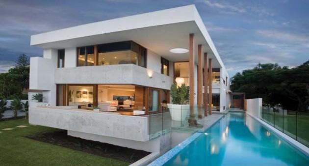 Hogares del futuro enero 2015 for Fachada de casas modernas con vidrio