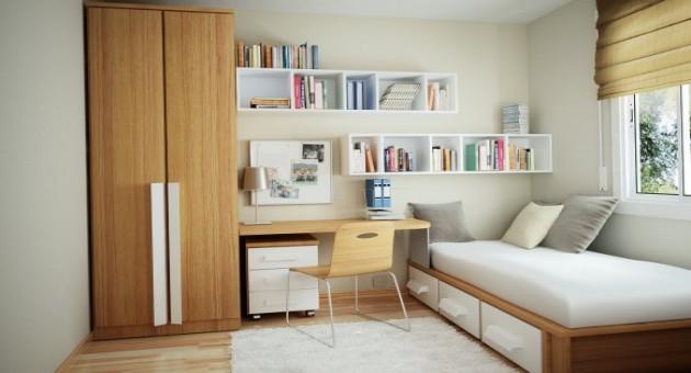 Quartos pequenos dicas para organizar for Organizar espacios pequenos