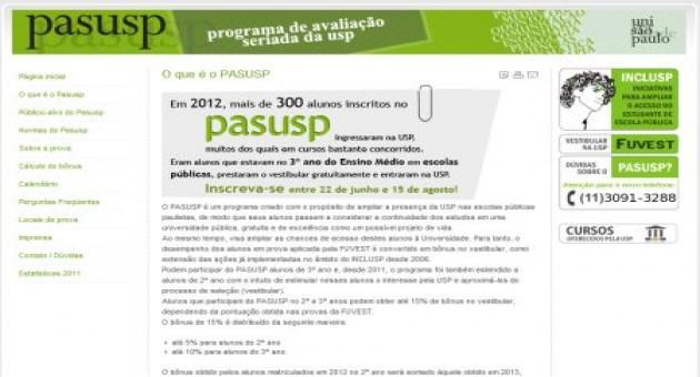 Pasusp 2013 – inscrição, como funciona