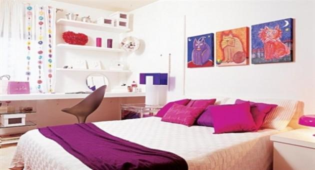 Decora??o de quarto colorido para jovens: fotos