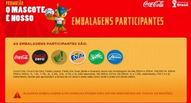 Promoção O Mascote É Nosso Coca Cola