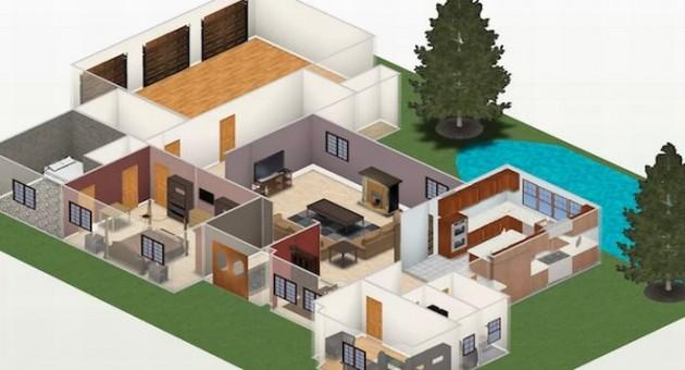 Plantas de casas pequenas com piscinas for Piscinas de casas pequenas