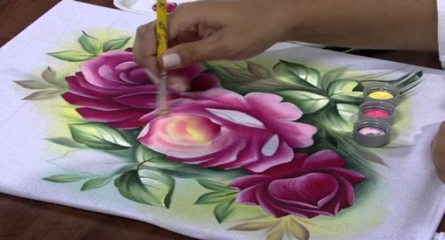 Pintura em tecido passo a passo com fotos e vídeos