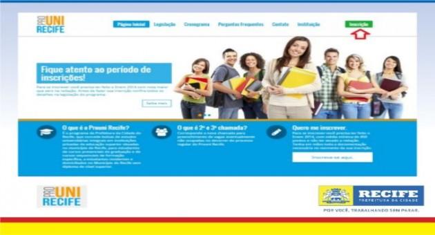 Inscrições Prouni Recife 2015 – prouni. recife.pe.gov.br