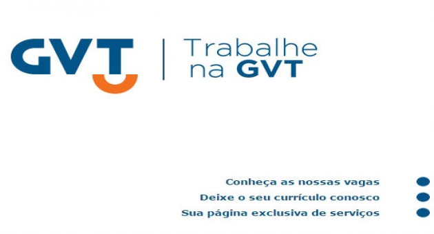 RH GVT, Cadastro de Currículo, Vagas e Empregos
