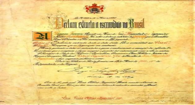 Assinatura da Lei Áurea – Princesa Isabel – Abolição da Escravatura